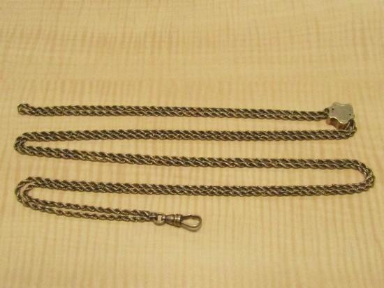 14k Yellow Gold Pocket Watch Chain