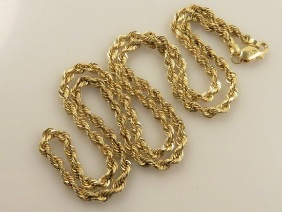 14K Gold Rope Link Chain-11.4g 18""