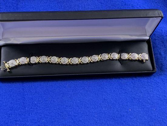 Large Diamond Cluster Bracelet