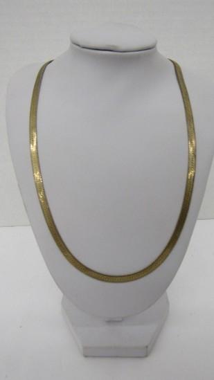 14K Yellow Gold Herringbone Chain (13.19g