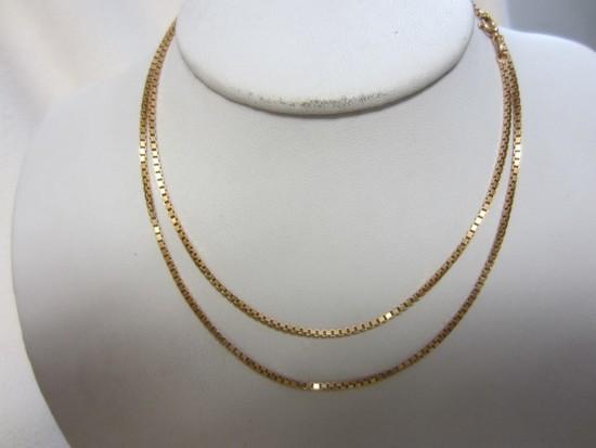 18K Gold Box Chain 15.0 grams