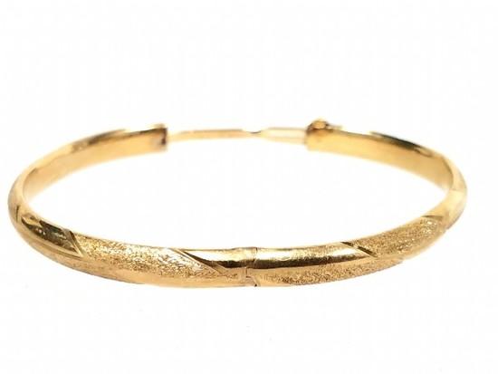 14k Yellow Gold Bangle Bracelet 5.03g