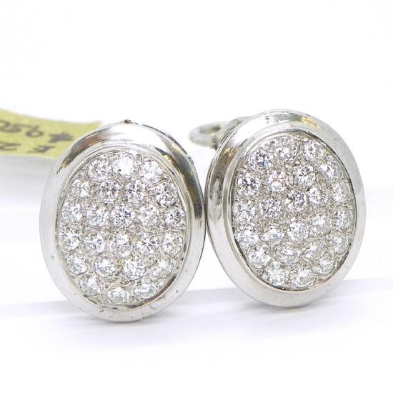 Vintage Van Cleef Style 2.00ctw F/G-VS Diamond Earrings