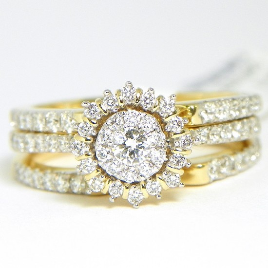 10k Diamond Bridal .78ctw