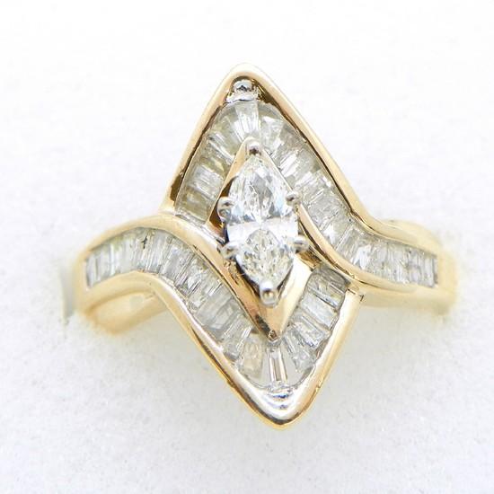 10K Gold  1.25ctw Diamond Ring