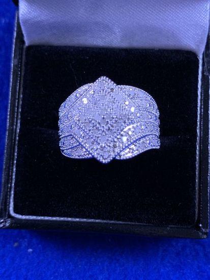 Large Diamond Dinner Ring