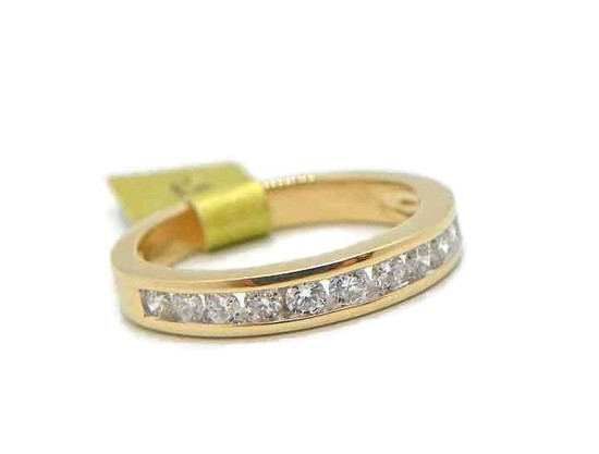 14K Gold Diamond Channel Set Ring
