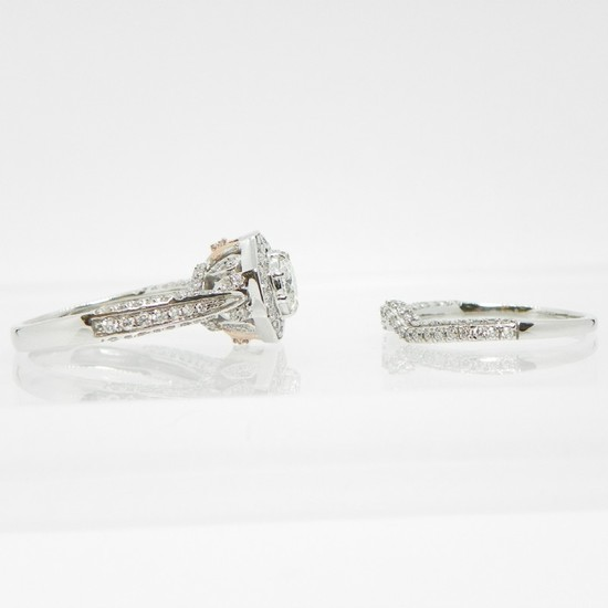 10K Gold Diamond Bridal Ring Set