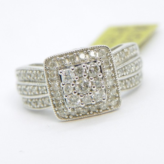10K Gold Diamond Filigree Ring