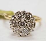 Gold Champagne Diamond Ring .75CTW