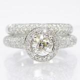 10K Gold Diamond Pave' Bridal Set