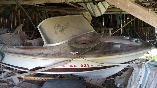 Larson Lapine 12' speed boat. All American edition. 65 hp Mercury outboard