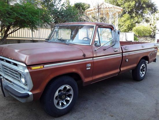 1973 Ford pickup Explorer camper special F-250 no smog required great candidate for hot rod