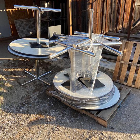 "EIGHT Grey Round Tables 42"" Diameter - 8pcs"