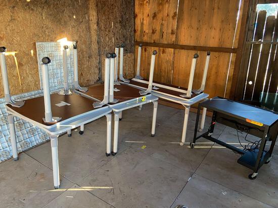 SEVEN Various Rolling Tables / Desks - 7pcs