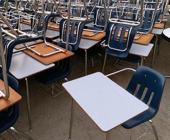 30pcs VIRCO Student Tablet Arm Chairs Blue M-9400-18B - 30pcs