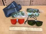 Assorted Wavelength Laser Safety Glasses / Goggles - 5pcs