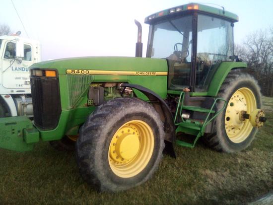 Passed John Deere 8400 Tractor
