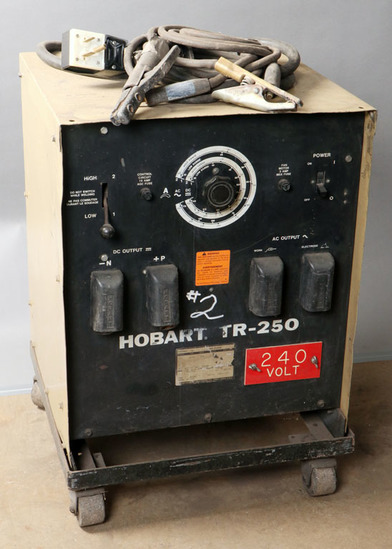 Hobart TR-250 serial #88WS11429; with cart, power cord, 1-ground, 1-stinger
