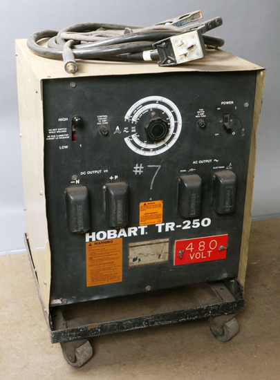 Hobart TR-250 serial #88WS02191; with cart, power cord, 1-ground, 1-stinger