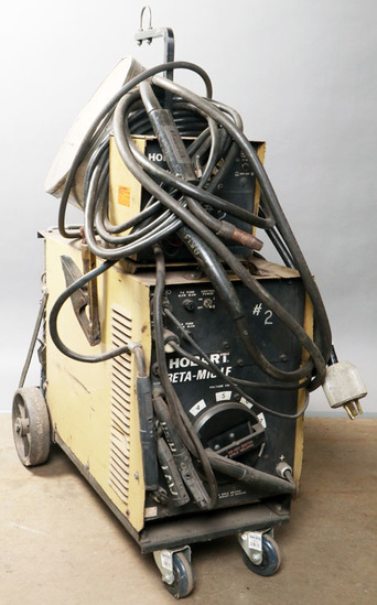 Hobart Beta-Mig LF welder with feeder, torch, power cord, accessory box; mo