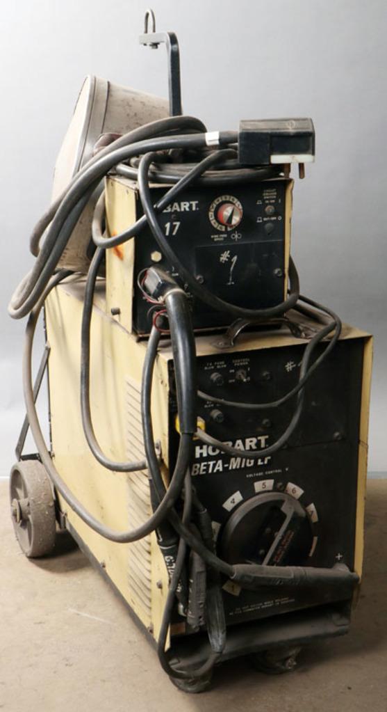 Hobart Beta-Mig LF welder with feeder, torch, power cord, accessory box; mo