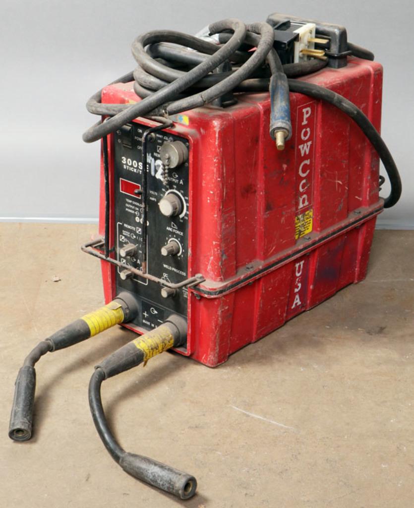 PowCon Model 300 SE multi-process auto link welder-serial #350-700939; come