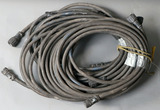 Lot of (5) approximately 25' Miller Remote Cable feeder cables