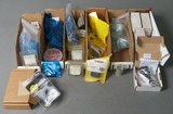 Brown plastic tray lot of ESAB Plasma Arc cutter parts - electrodes, nozzle