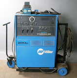 Miller Syncowave 300 multi-process shop welder on cart, with foot pedal con