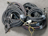 Lot of (7) ground jumper cords (various lengths, approx 10 @15' each