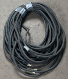 Lot of (2) 1/0 approx 50' welder leads with MPB-1 male/female connections