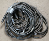 Lot of (6) 1/0 approx 25' welder leads with MPB-1 male/female connections