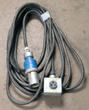 (1) approx 50' 100 AMP, 240-600-volt single patch cord