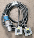 (1) approx 10' 100 AMP,240-600-volt double patch cord