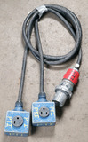 (1) approx 8' 60 AMP,240-600-volt double patch cord