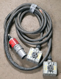 (1) approx 15' 60 AMP,240-600-volt double patch cord