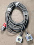 (1) approx 30' 60 AMP,240-600-volt double patch cord