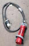 (1) approx 10' 100 AMP,480- volt single patch cord