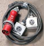 (1) approx 10' 100 AMP,480- volt double patch cord