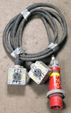 (1) approx 10' 100 AMP,480 -volt double patch cord