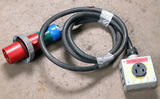 (1) approx 10' 60 AMP,240-600 -volt single patch cord