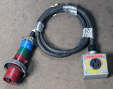 (1) approx 10' 60 AMP,240-600-volt single patch cord