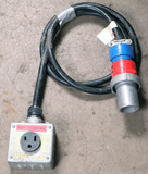 (1) approx 10' 6 AMP, 240-600-volt single patch cord