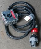 (1) approx 10' 30 AMP,240-600-volt singe patch cord