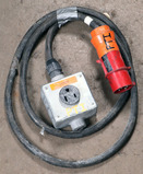 (1) approx 10' 32 AMP, 480- volt single patch cord