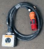 (1) approx 10' 32 AMP,480- volt single patch cord