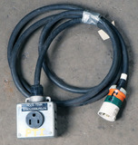 (1) approx 10' 30 AMP, 480-volt single patch cord