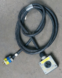 (1) approx 10' 30 AMP, 480- volt single patch cord