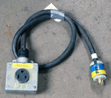 (1) approx 5' 30 AMP, 480- volt single patch cord